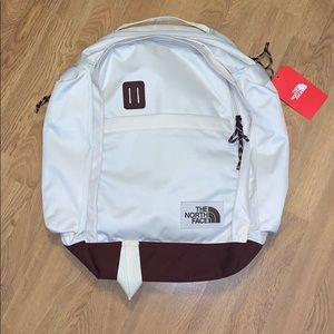 NWT The North Face Ruthsac Backpack, White/Red